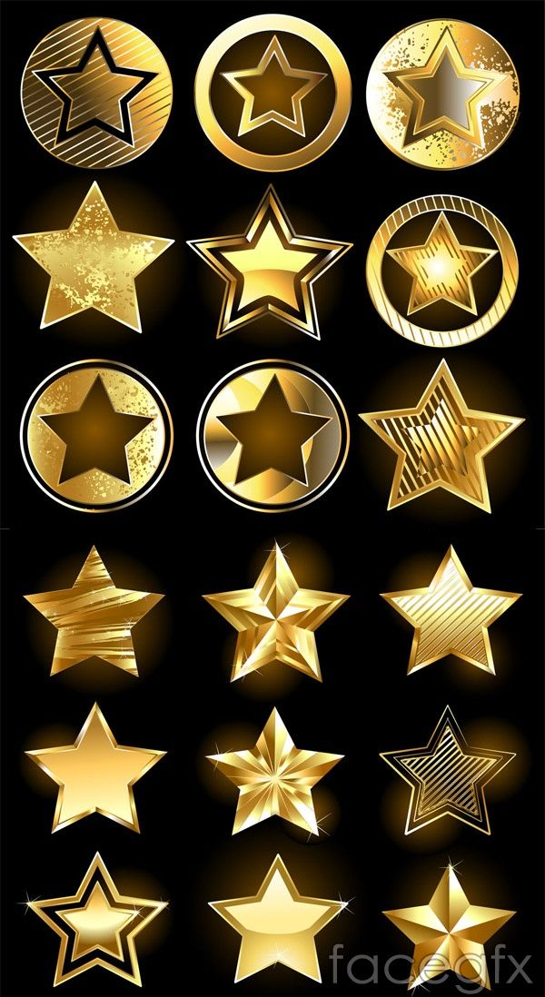 Gold star icon vector (With images) Gold stars, Icon