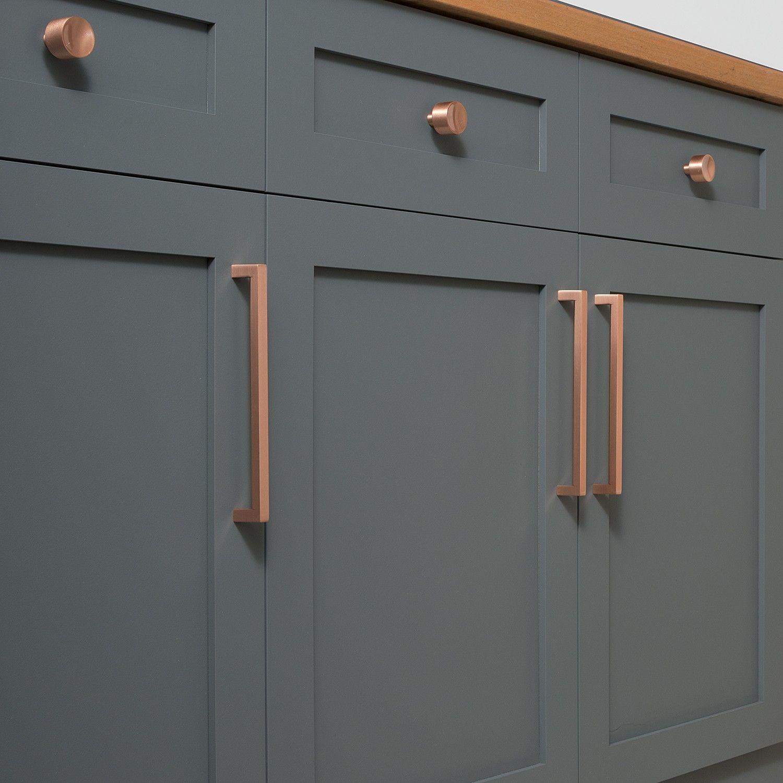 Mid Century Knob - Satin Copper | Cabinet Knobs | Hardware ...