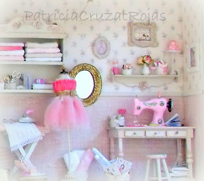 Cuarto costura con miniaturas shabby chic http - Habitaciones shabby chic ...