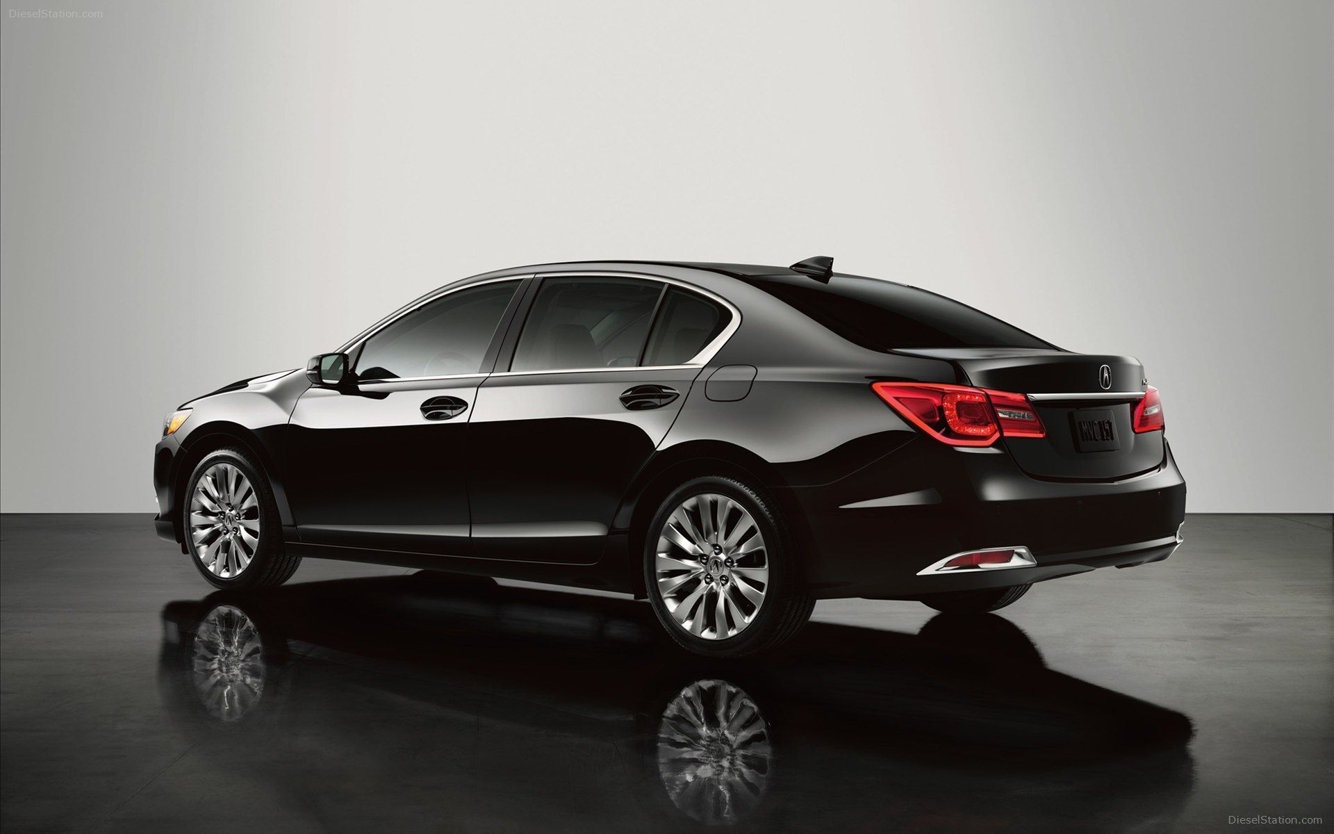 2014 Acura RLX Black Rear Wallpaper