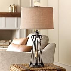Franklin Iron Works Metal Rod Cage Table Lamp Bedroom Pinterest