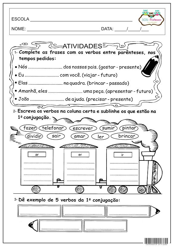 Atividades De Concordancia Nominal E Verbal 4 Ano Fundamental
