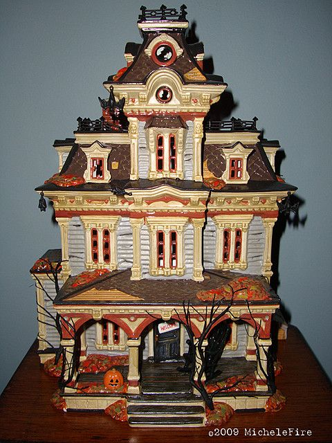 department 56 halloween village grimsly manor photo by michele fire