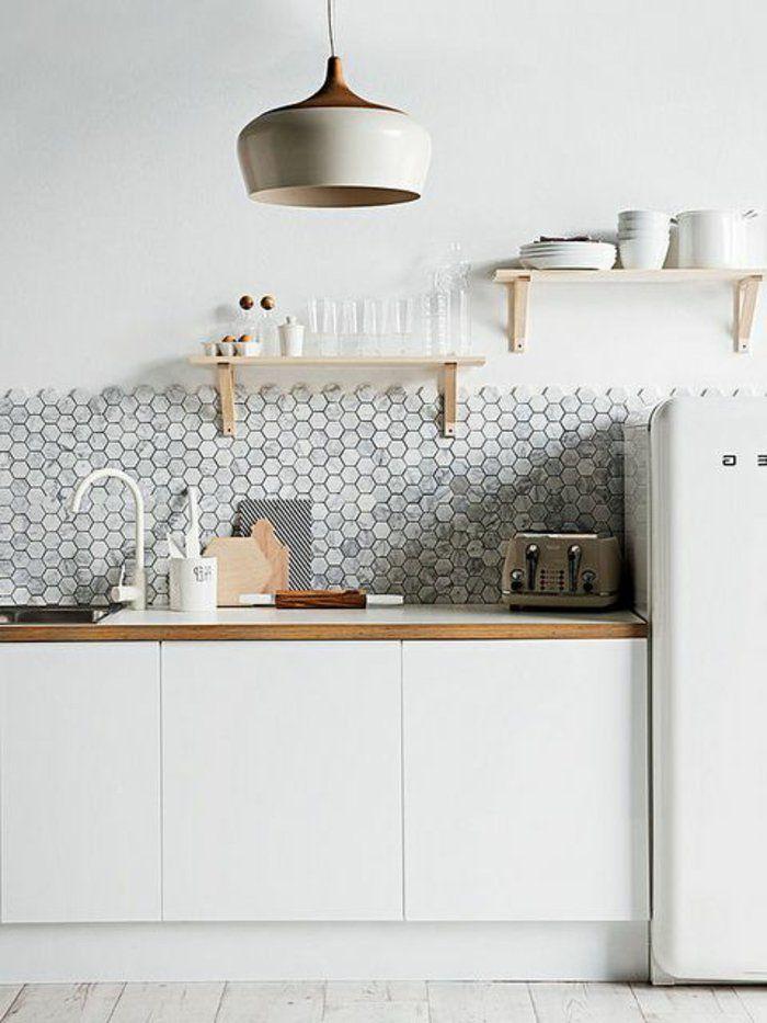 Le carrelage mural en 50 variantes pour vos murs! | Cuisine blanche, Cuisine moderne et ...