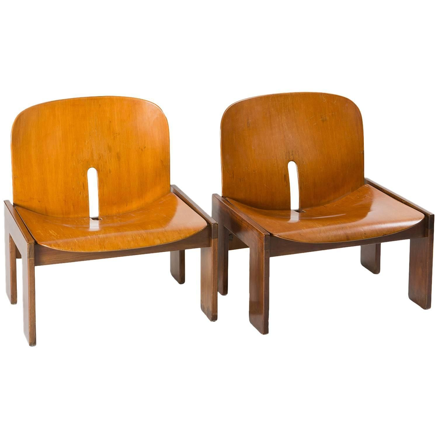 Pair of Lounge Chairs Model 925 by Scarpa for Cassina