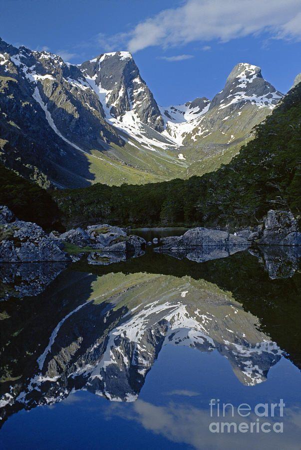 Emily Peak, Lake Mackenzie, Fiordland National Park, New Zealand; photo by Craig Lovell