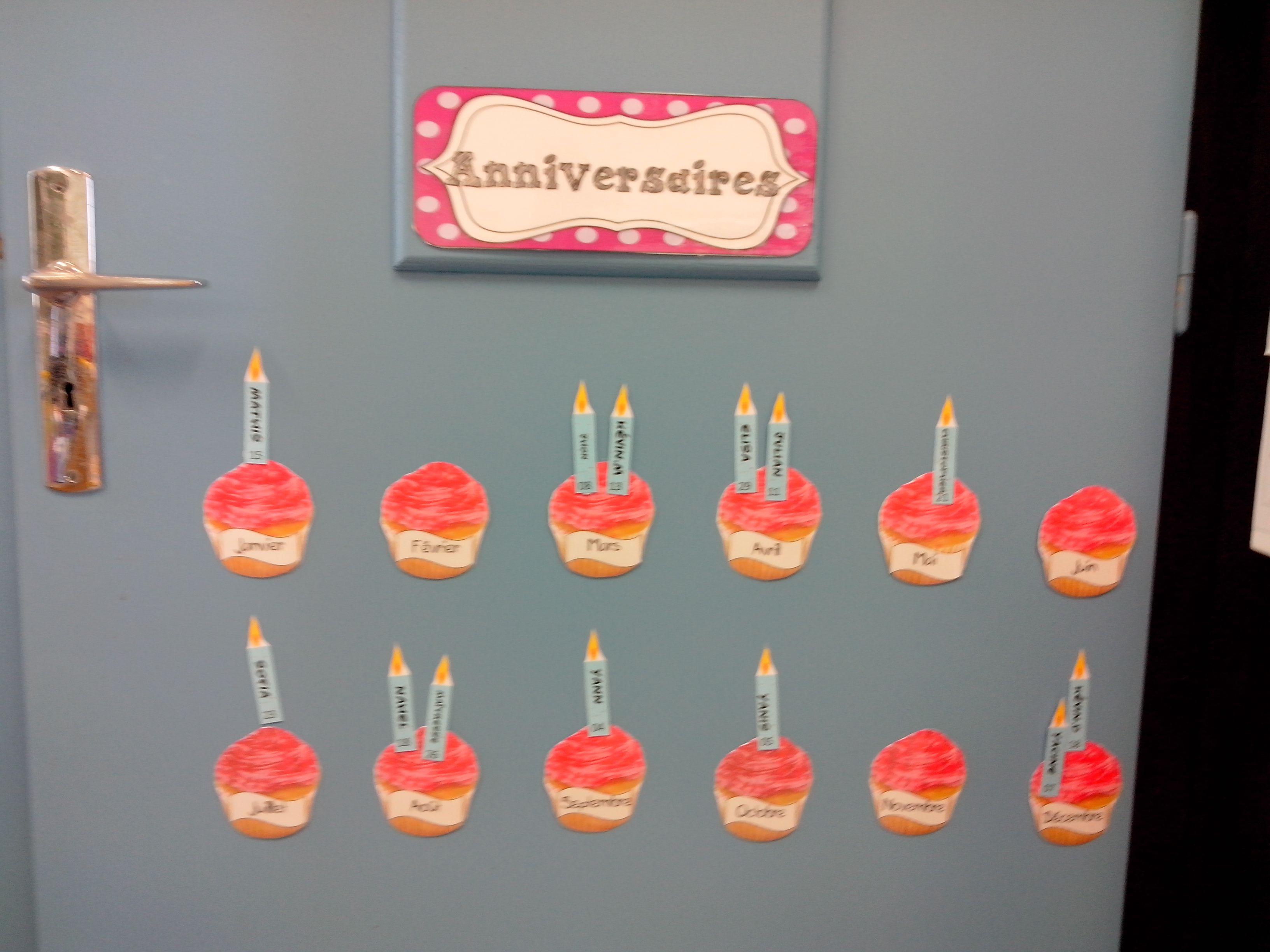 affichage les anniversaires deco enfant pinterest affichage anniversaires et. Black Bedroom Furniture Sets. Home Design Ideas