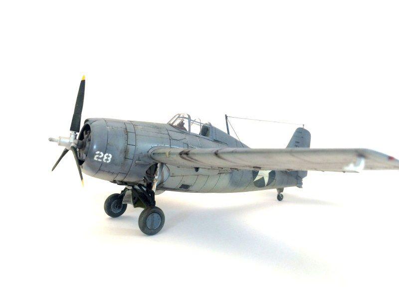 "F4F Wildcat ""Guadalcanal"" 1/48 scale Tamiya  out of box build , painting gunze and Tamiya  ,wash panel liner AK interactive ,  modeler Wilb loïc"