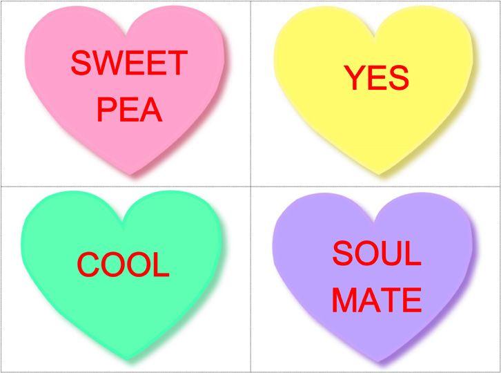 Valentines Day Editable Conversation Heart Flashcards Freebie