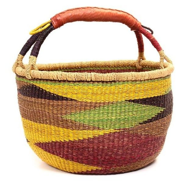 "Ghana Bolga Baskets - Market Basket14.5"" Across44243 ($37) ❤ liked on Polyvore featuring home, home decor, small item storage, seagrass baskets, elephant home decor, sea grass baskets, weave basket and grass basket"