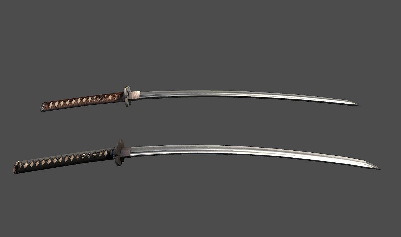 Low Poly Samurai Sword Samurai Swords Samurai Sword