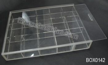 15 grids clear plastic box /storage jewelry beads container