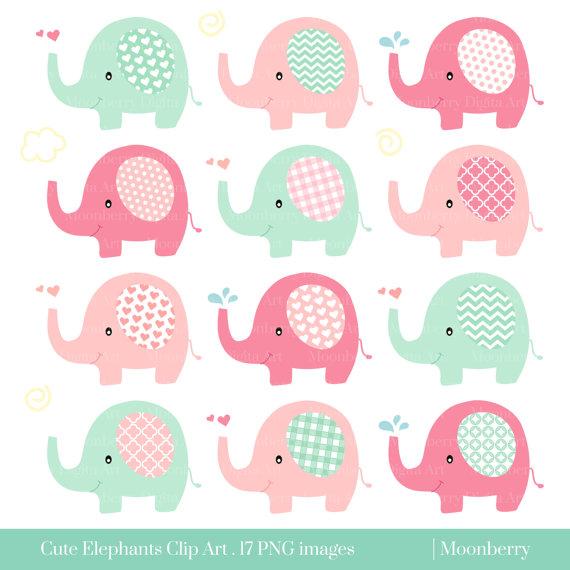 Lindo elefante clip art elefante clipart beb ducha - Fotos de elefantes bebes ...