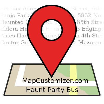 Haunt Party Bus | MapCustomizer.com: Plot multiple locations on Google Maps