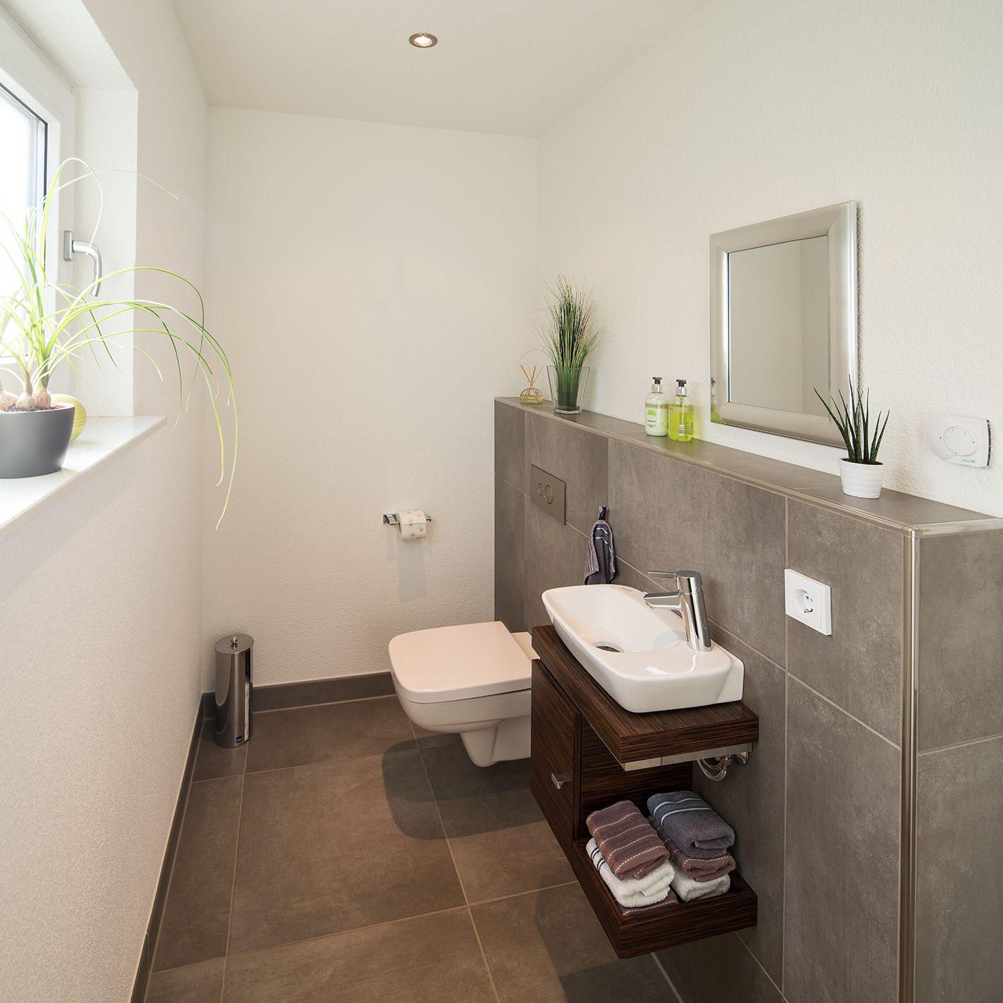 Badezimmer Ideen: Fertighaus Wohnidee Badezimmer Gästebad