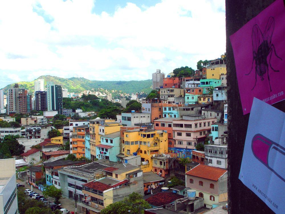 RHCP sticker at hill in Vitória