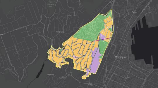 Map view of Kelburn suburb | arcgis map | Map, Logos