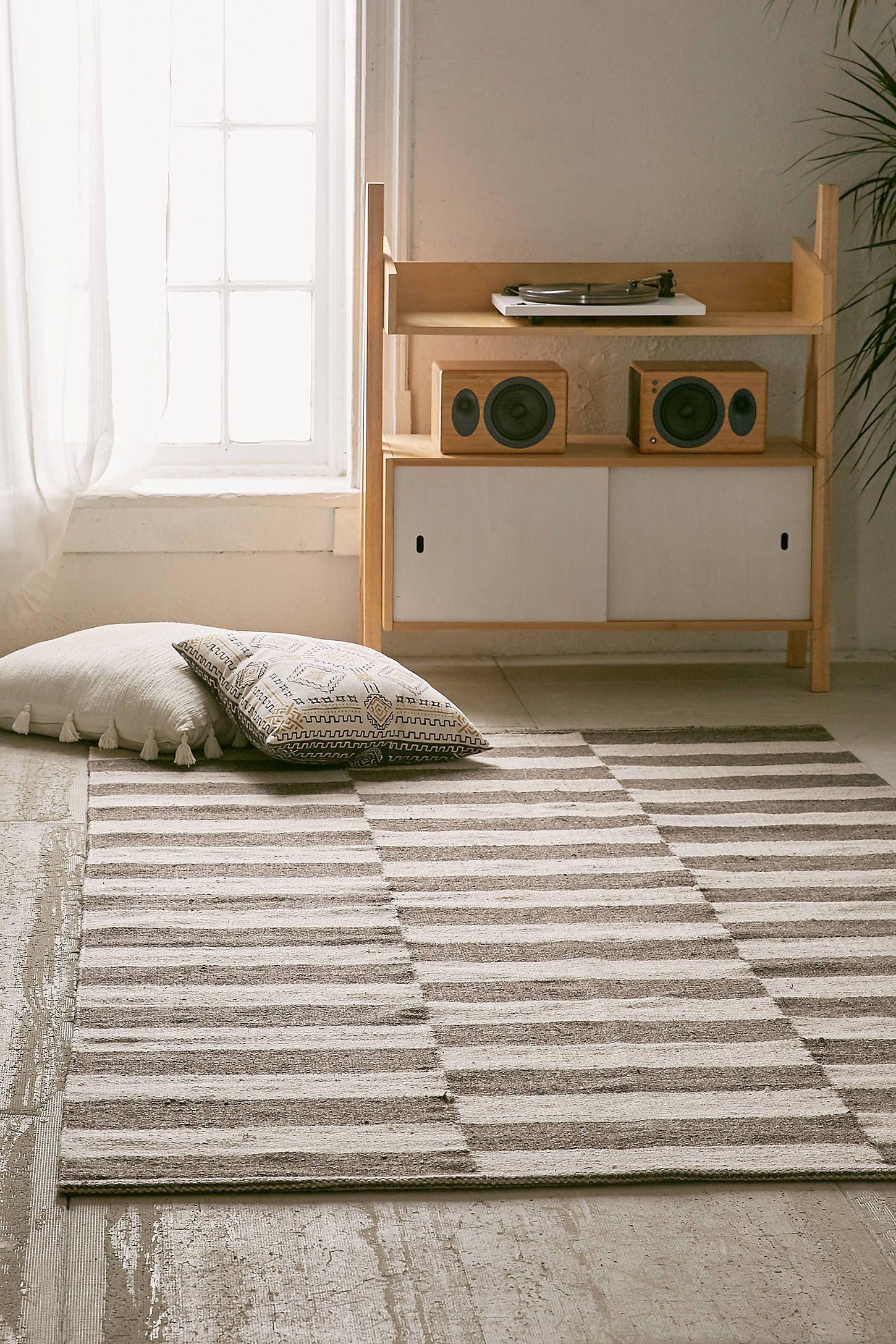 Abbey Offset Stripes Wool Rug