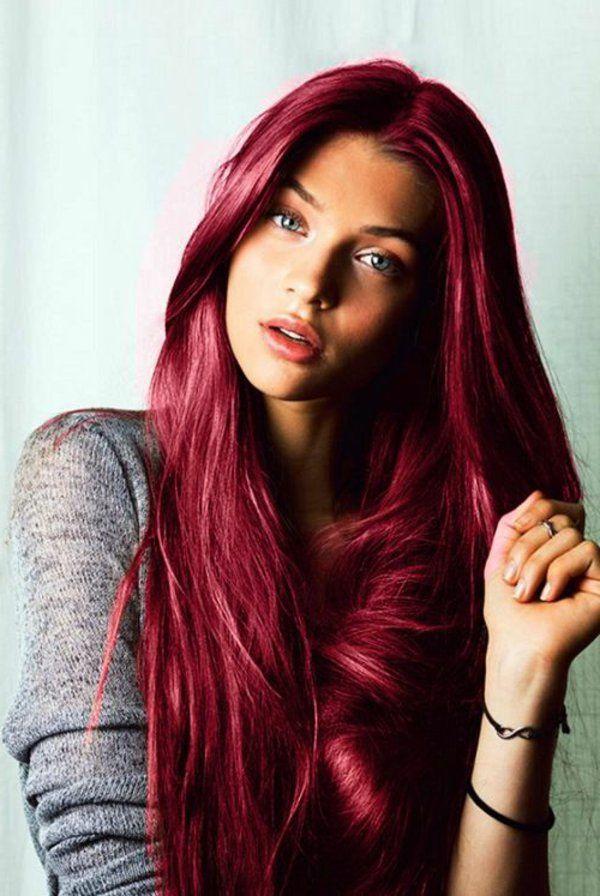 Haarfarbe rottone farbpalette