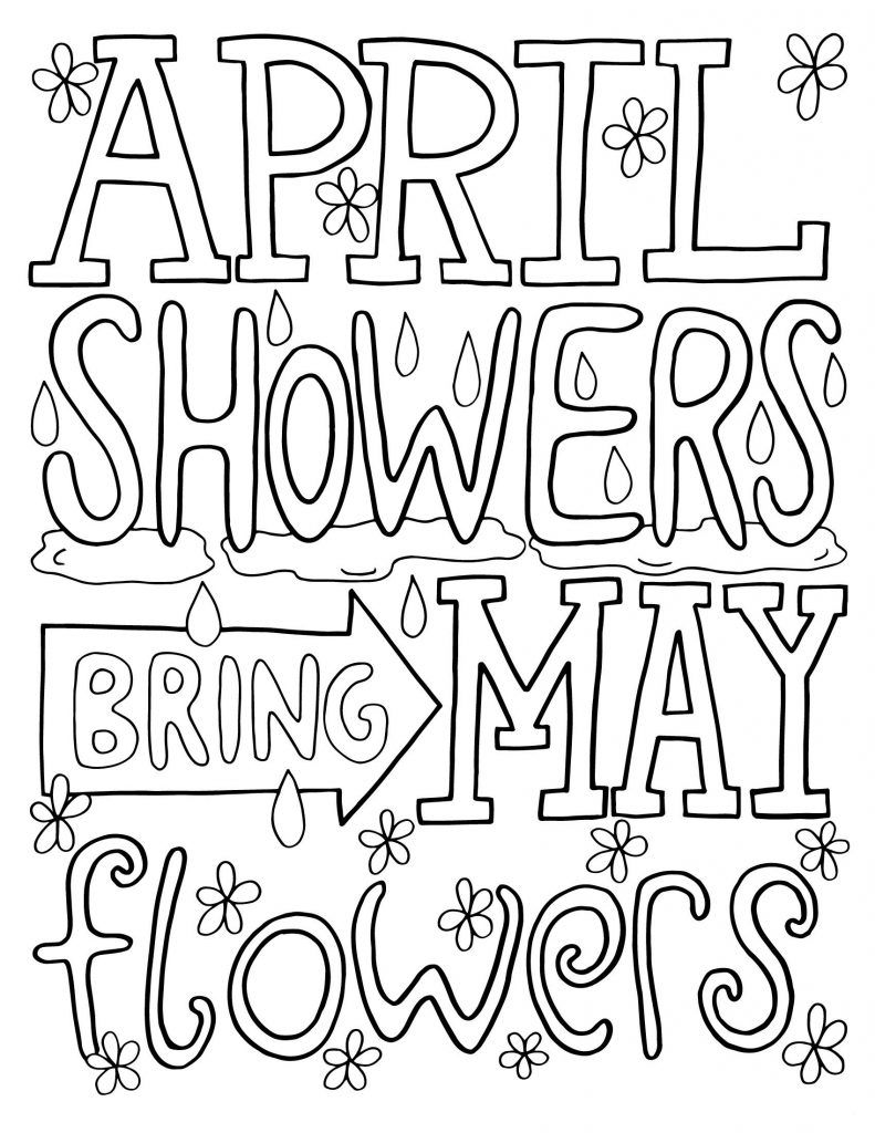 april showers bring may flowers free coloring pages