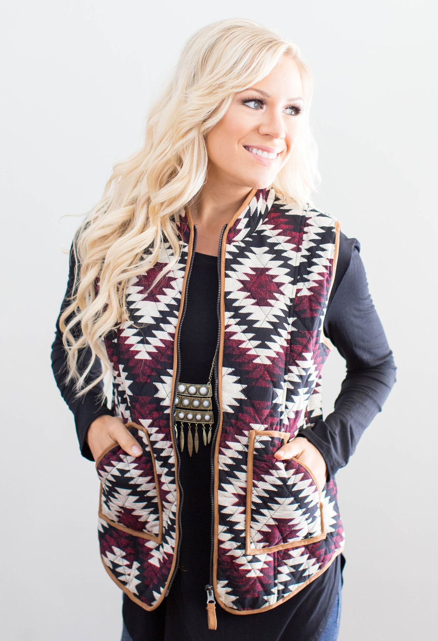 4359fafb8d85 This vest is a fall must have with its gorgeous colors and fun ...