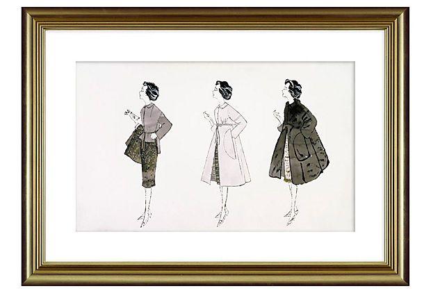 Andy Warhol, Three Fashion Figures