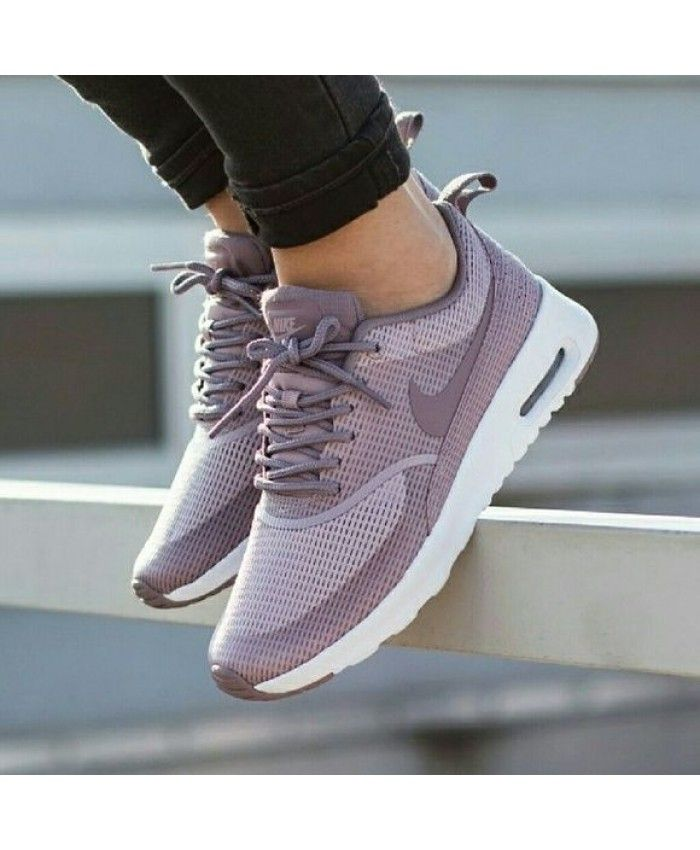 Nike Air Max Thea Purple Smoke Trainers | Nike shoes women ...