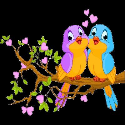 Pájaros Del Amor Del Pájaro De Dibujos Animados Imágenes Birds