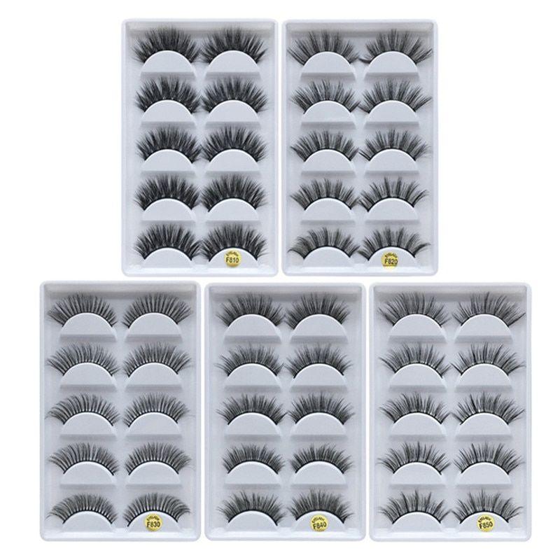 MB 5 pairs Mink Eyelashes 3D False lashes Thick Crisscross Makeup Eyelash Extension faux cils Natura