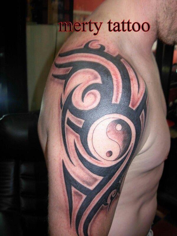 Pin By Riel On Tattoo S Tribal Tattoos Yin Yang Tattoos Ying Yang Tattoo