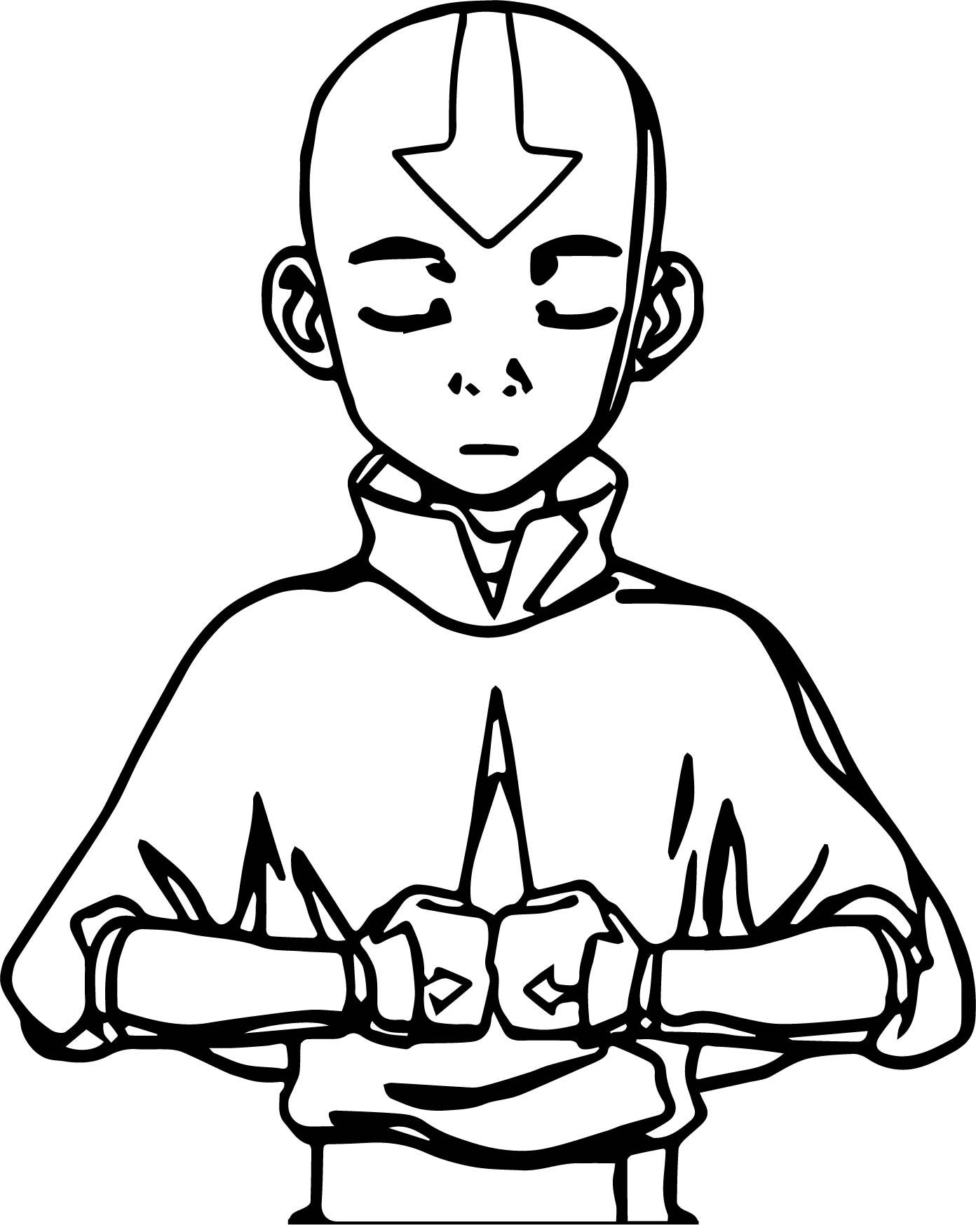 Awesome Aang Meditates Avatar Aang Coloring Page Avatar Tattoo Avatar The Last Airbender Art Avatar Zuko