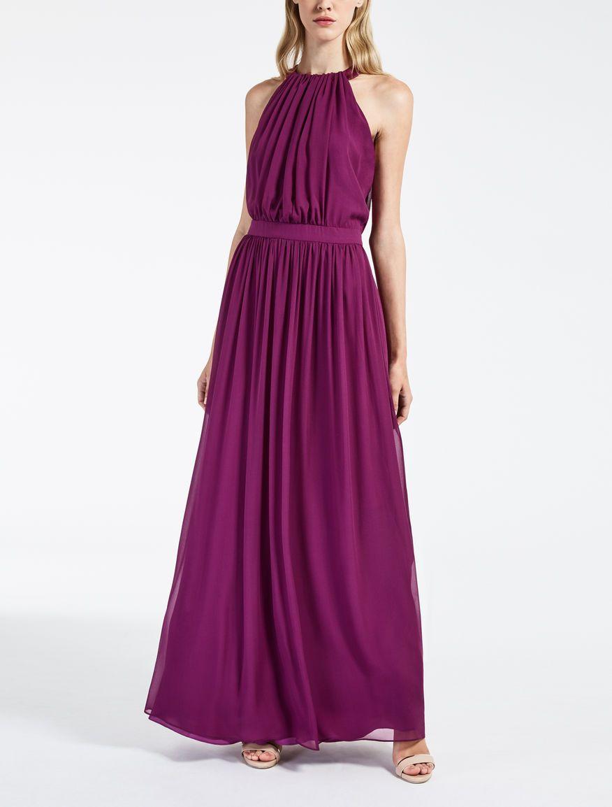 f0f85bf30d6 Max Mara HULL cyclamen  Silk georgette dress.