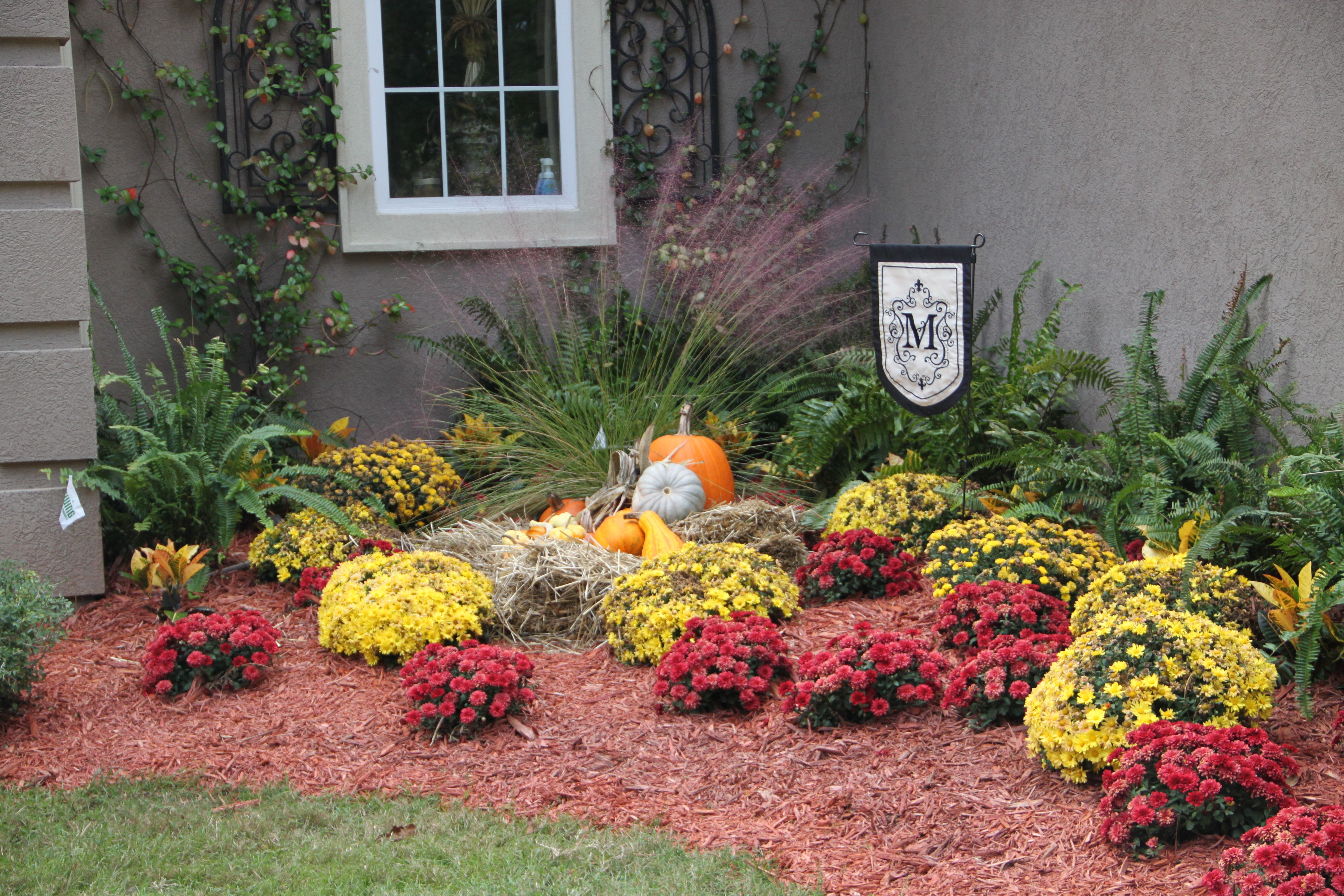 Fall Flower Beds Garden Flower Beds Fall Flowers Front Flower Beds
