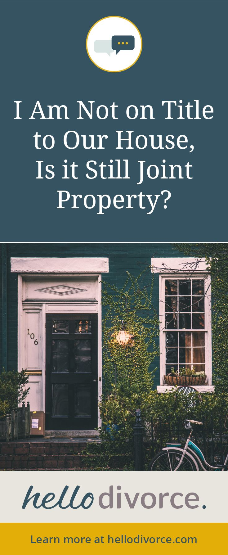 Determining joint property division of assets hello