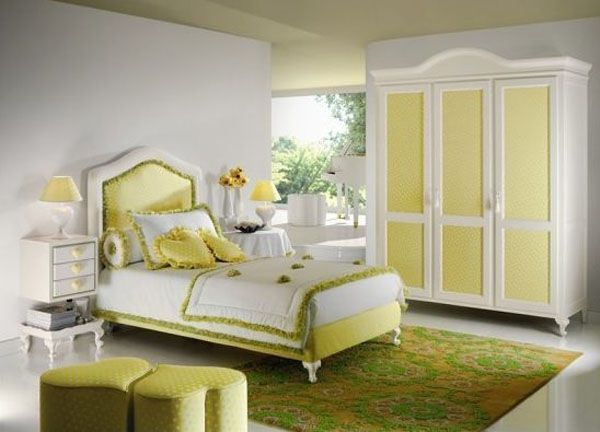 Yellow and white room design ideas for teenage girls Room Design