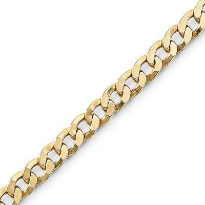 Mens 10k Gold 8 5 Quot 6mm Semi Solid Curb Bracelet