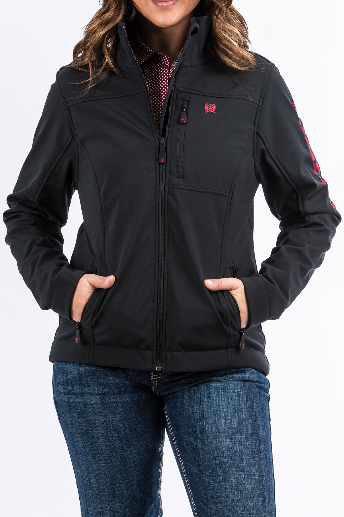 3f78a8e6bc4 Cinch Women s Black Cranberry Bonded Concealed Carry Jacket in 2019 ...