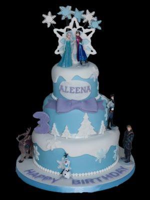 Cool Frozen 3 Tier Birthday Cake Birthday Cake Kids Tiered Cakes Personalised Birthday Cards Epsylily Jamesorg