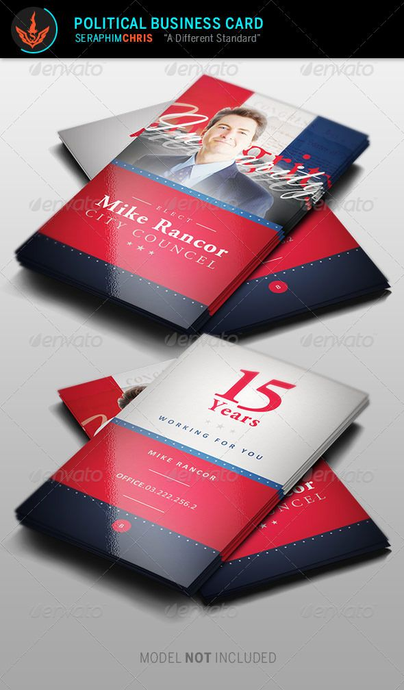 Political Business Card Template 2 Modelli di biglietto da - business card sample
