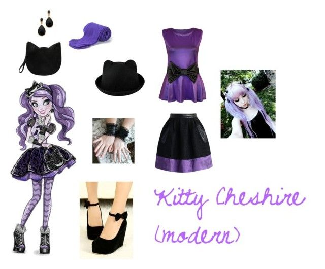 """""""ever after high-kitty cheshire"""" by demeters-child ❤ liked on Polyvore featuring WearAll, Chicwish, Biba, Forever 21, Kenneth Jay Lane, women's clothing, women, female, woman and misses"""