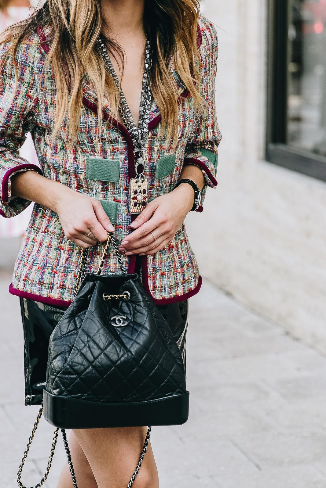8f4e801bbd7172 3 ways to wear the Gabrielle Bag from Chanel | The Girl From Panama