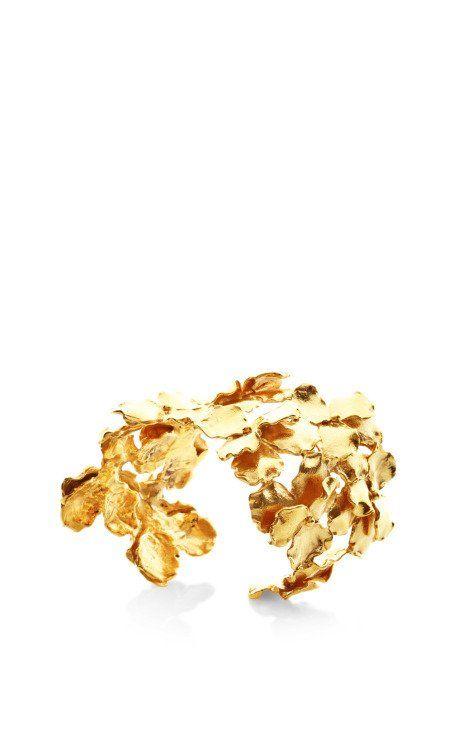 The Panze Cuff in 24K Gold by Madina Visconti di Modrone.