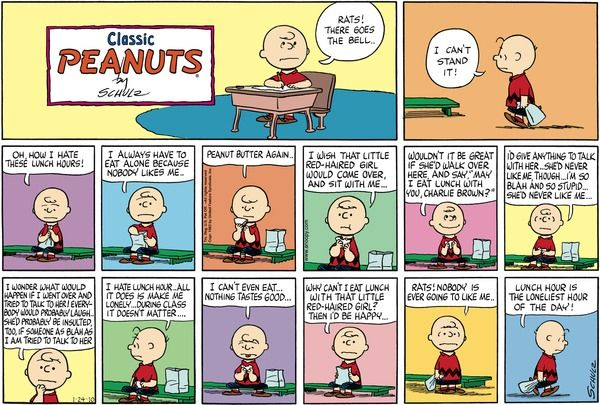 View our school-related #Peanuts collection @ http://www.gocomics.com/collection/1626962?utm_source=pinterest&utm_medium=socialmarketing&utm_content=celebrating65yearsofpeanuts-board&utm_campaign=social-peanuts65 | #GoComics #comics #webcomic #collections #school
