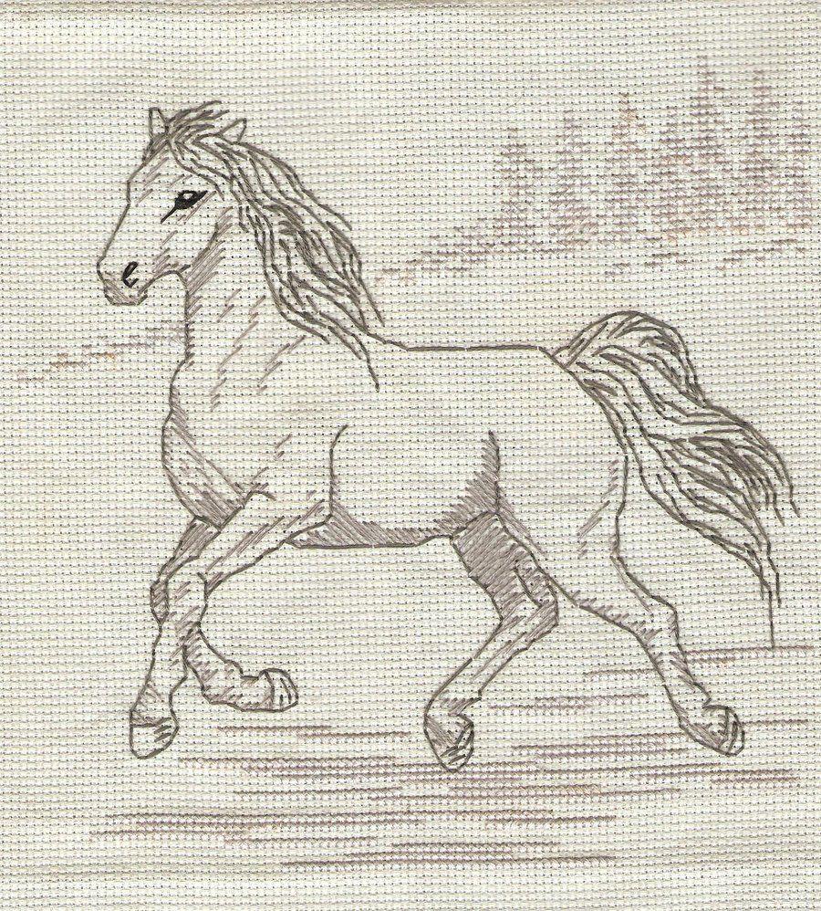 Лошади картинки для вышивки крестом
