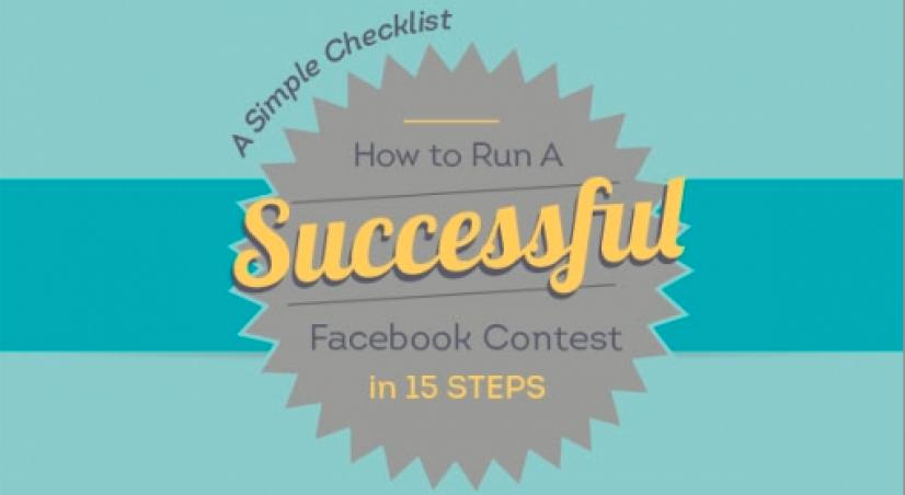 Hoe een succesvolle Facebook wedstrijd organiseren in 15 stappen?  - I ❤ Infographic Friday