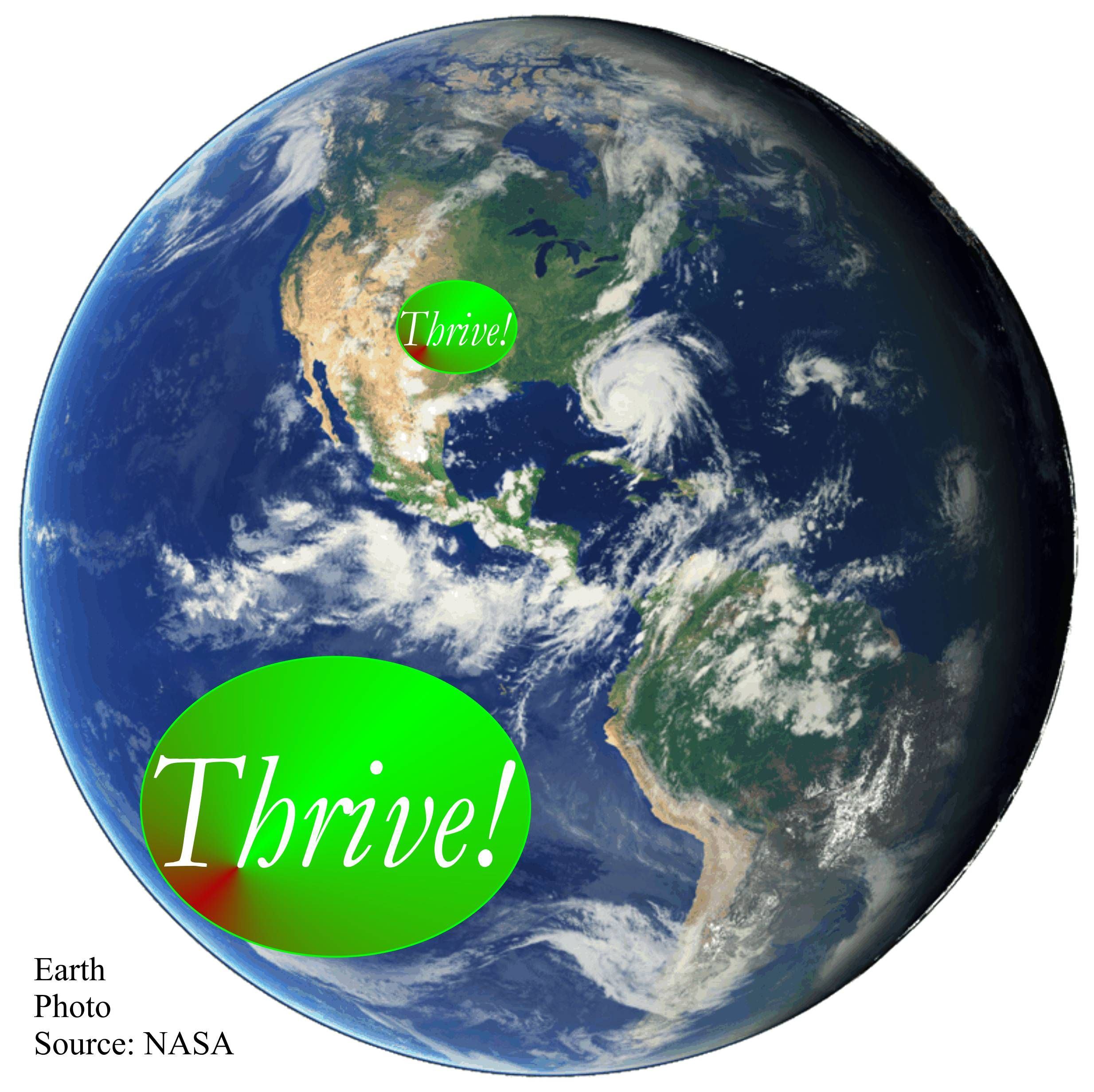 To America's leaders, America thrives, together with, not at the expense of, the rest of Earth. www.AllThriveForever.org  Make America and Earth great!