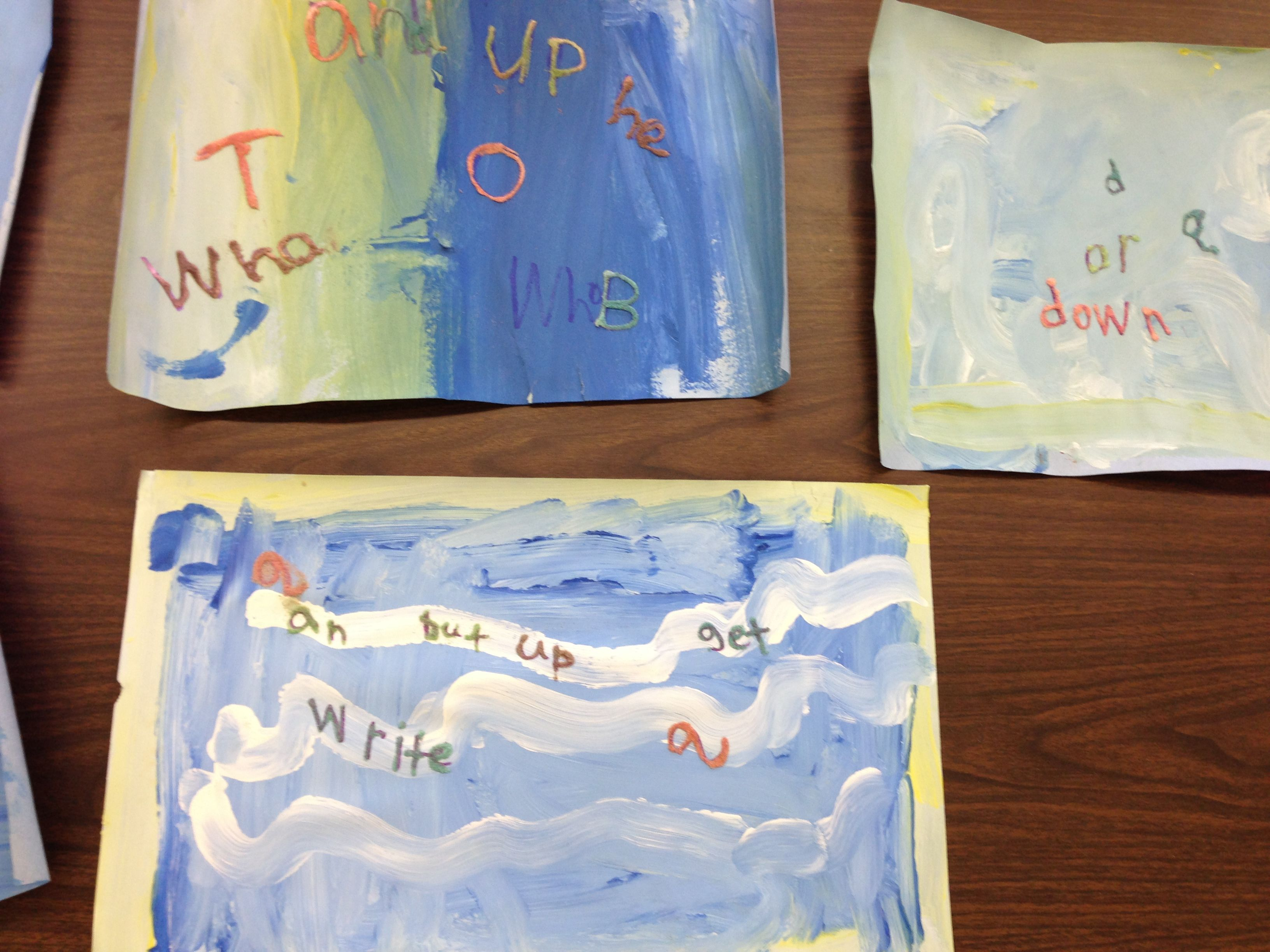 2 Day Literacy Art Activity During Our Ocean Unit Day 1 The Students Painted Water By Mixing