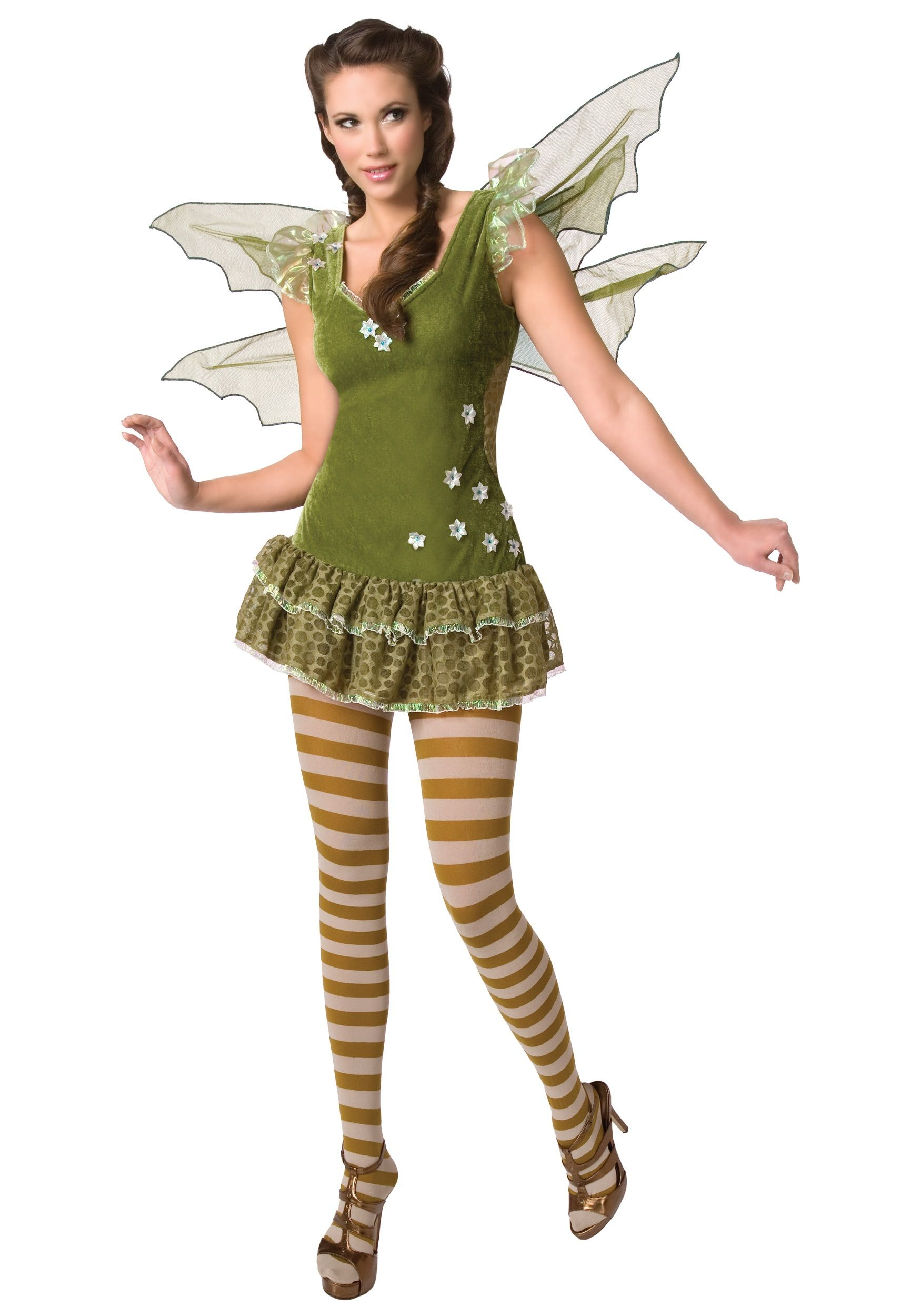 the green fairy is the most unique of the fairy kingdom awe everyone will flying around in this sexy fairy halloween costume - Green Fairy Halloween Costume