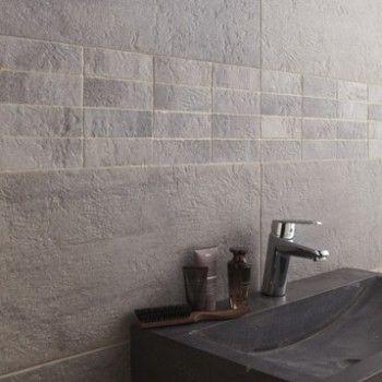 Carrelage Vestige ARTENS, grès cérame teinté masse, gris, 30x60 cm - faience ardoise salle de bain