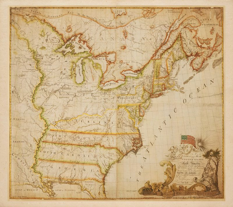 Map Of The United States North America 1784 Abel Buell Ii